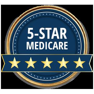 Calificado con 5 de 5estrellas por Medicare