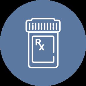 ícono de frasco del medicamento recetado
