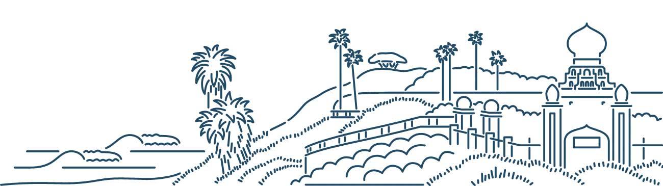 Drawing of San Diego skyline